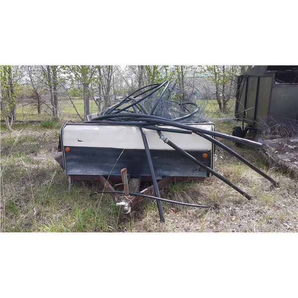 Tent Trailer + Scrap metal 11'