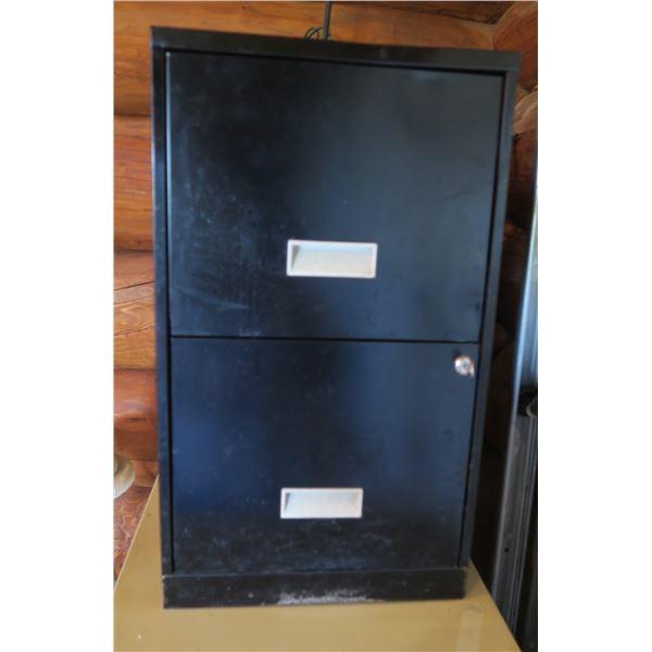 "Small Metal Filing Cabinet 25""×18""×15"""