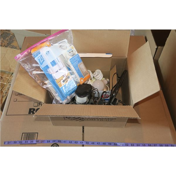 Solar Motion Light + Bulbs + Baby proofing supplies