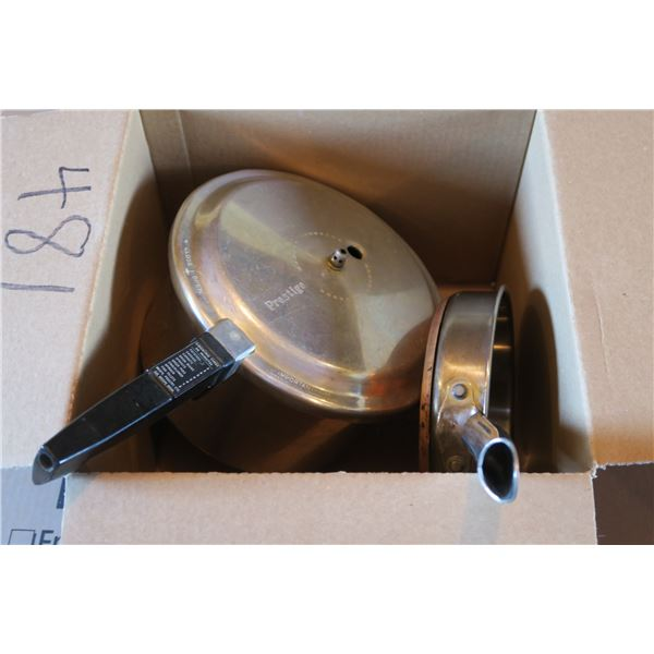 Copper Bottom Fry Pan + Pressure Cooker
