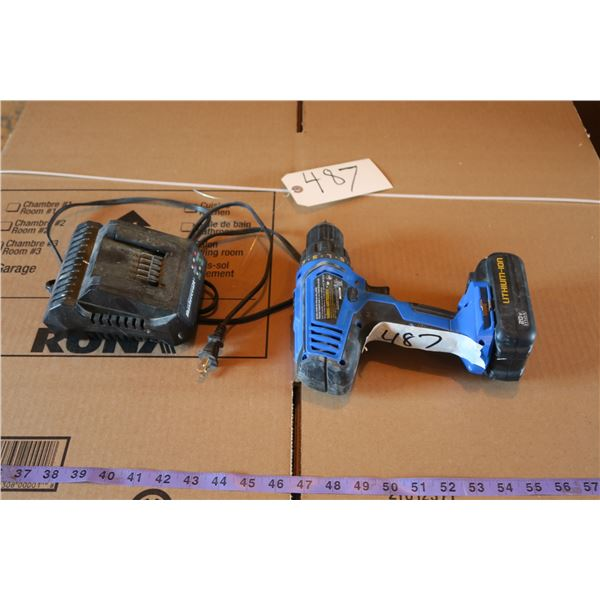 20v Mastercraft Cordless Drill + Charger (Works)