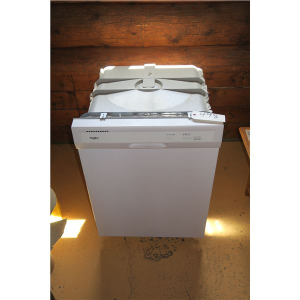 """Whirlpool Dishwasher 22""""×22""""×33"""" (Working but leaks from door)"""