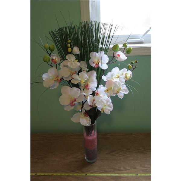 Silk Flowers + Vase