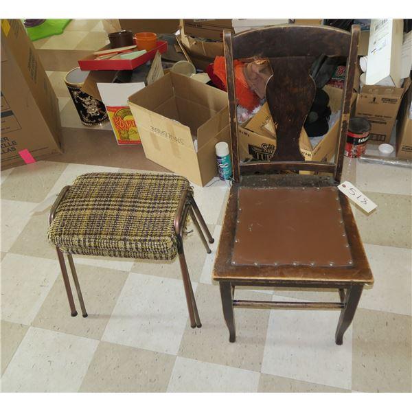 Vintage Chair + Stools
