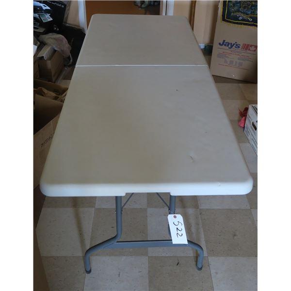 "Plastic Folding Table 72""×30"""