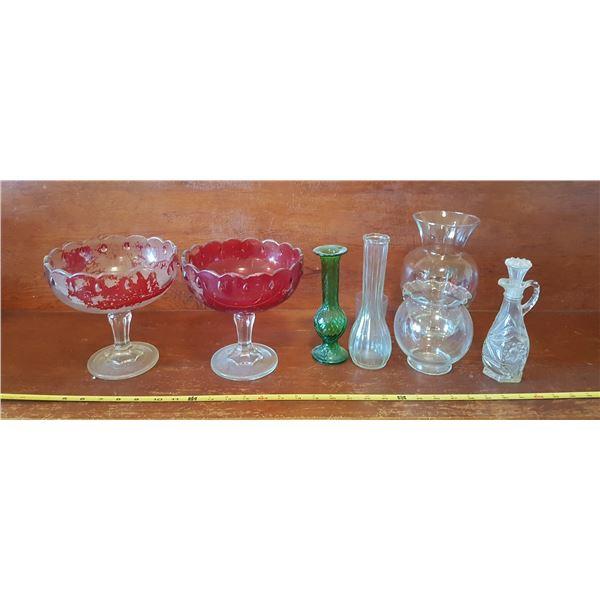 Lot Glassware & Vases