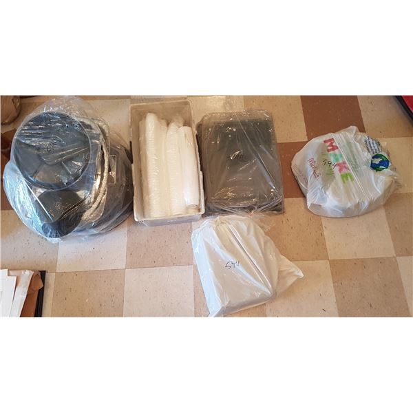 Large Lot Trays & Oven Pans & Disposable Cups