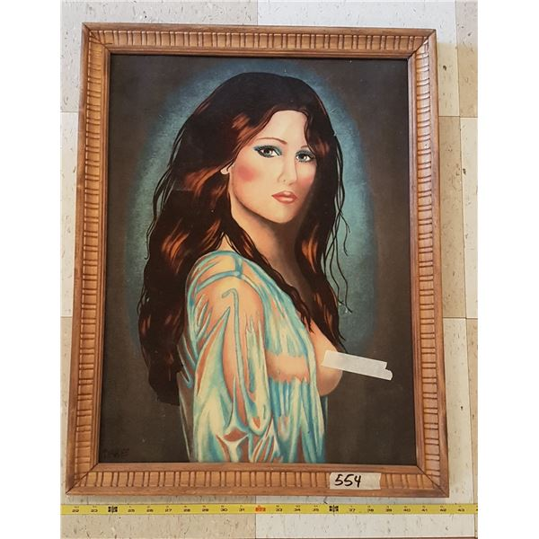 Velvet Painting In Frame