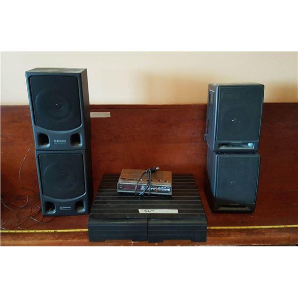 4 Speakers & Cassette Case & Alarm Clock