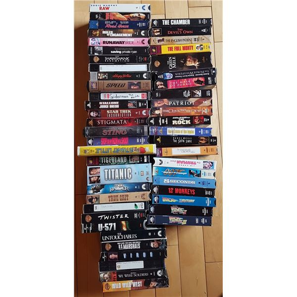 Large Lot VHS Movies