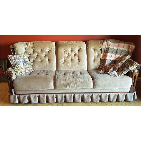 Vintage Sofa  & Pillows Etc.