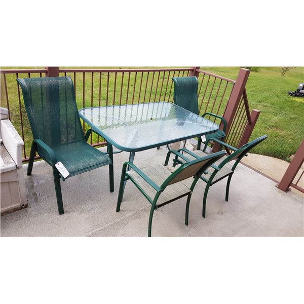 """Patio Table & 4 Chairs 38"""" X 54"""""""