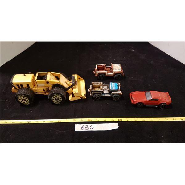 Lot Tonka Loader & Car  & Torco Jeeps