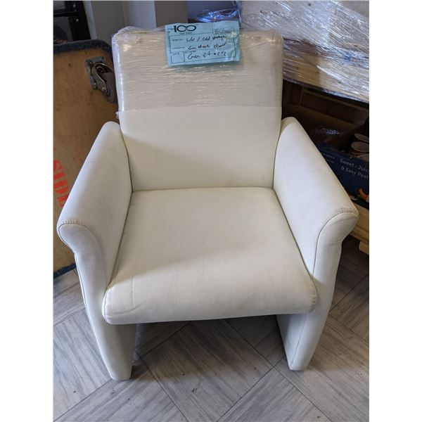 White leather accent chair from the popular sci-fi tv series