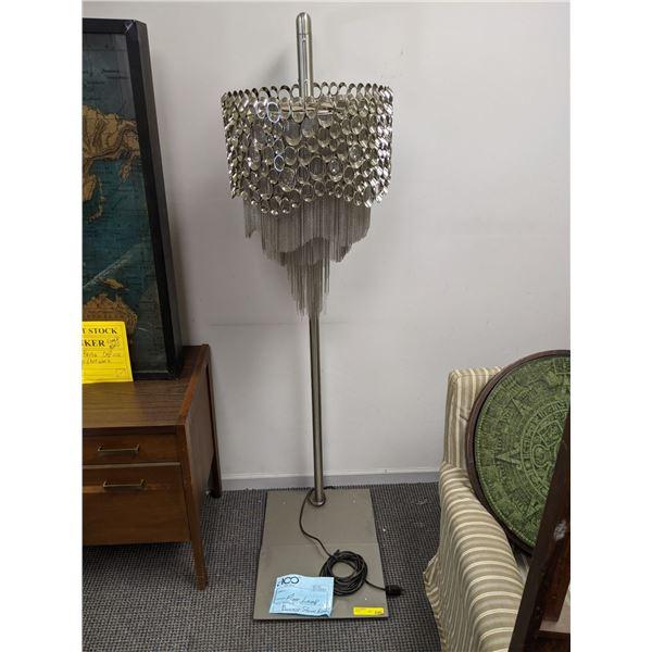 Fancy metal & glass designer floor lamp from the popular sci-fi tv series