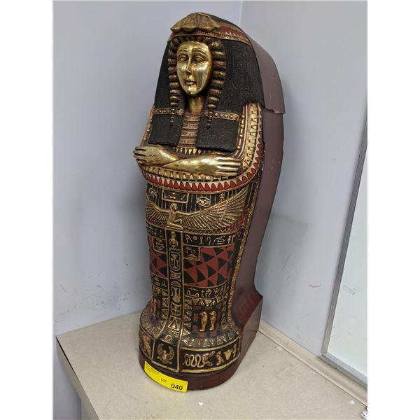 Replica mini Egyptian sarcophagus from the popular sci-fi tv series
