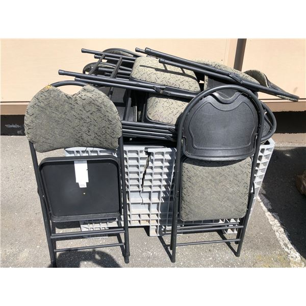 Approx. 50 folding side chairs - from the sci-fi show (Grey plastic tote not included)