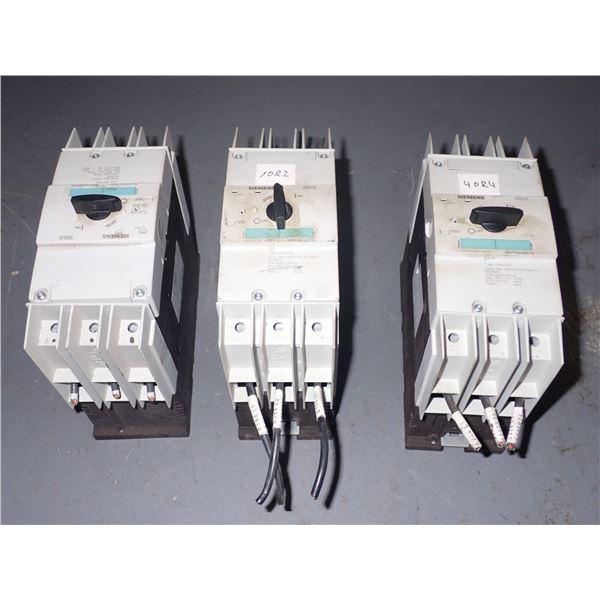 Lot of (3) Siemens #3RV1742-5ED10 Circuit breakers