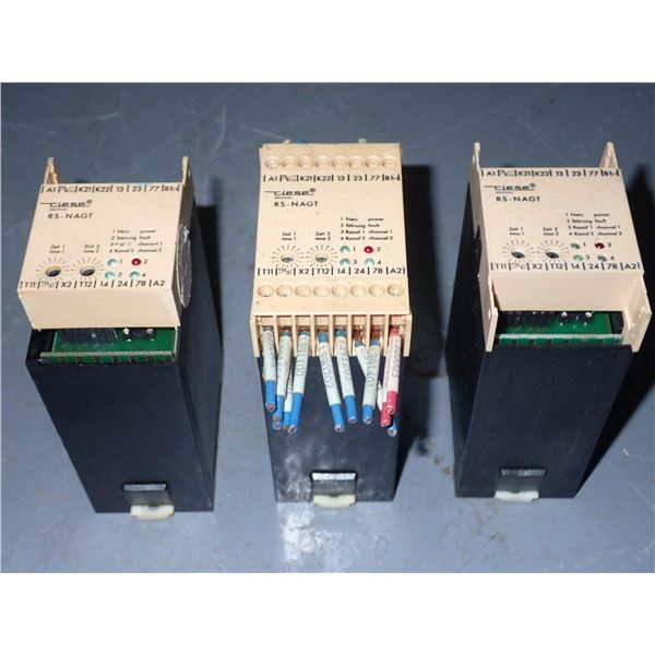 Lot of (3) CIESE Electronic #RS-NAGT Relays