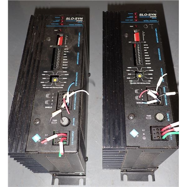 Lot of (2) SLO-SYN 2000 STEPPER DRIVE #SS2000D6