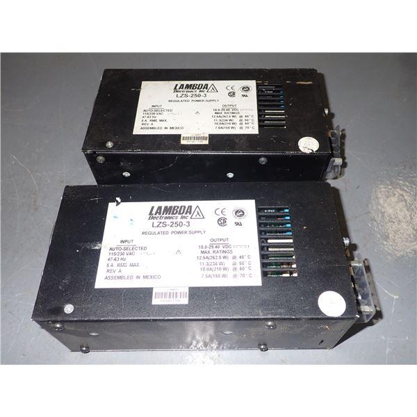 Lot of Lambda #LZS-250-3 Power Supplies