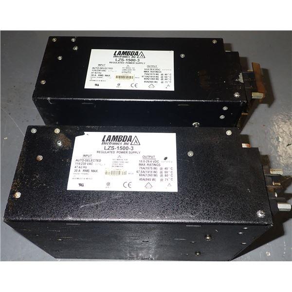 (2) Lambda #LZS-1500-3 Power Supplies