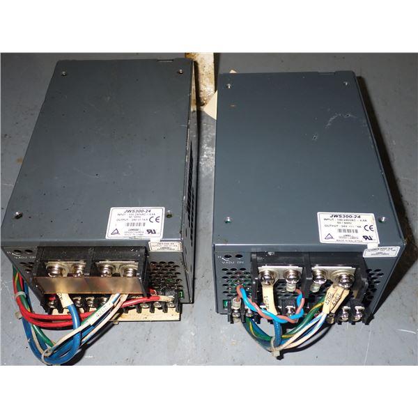Lot of (2) Lambda #JWS300-24 Power Supplies