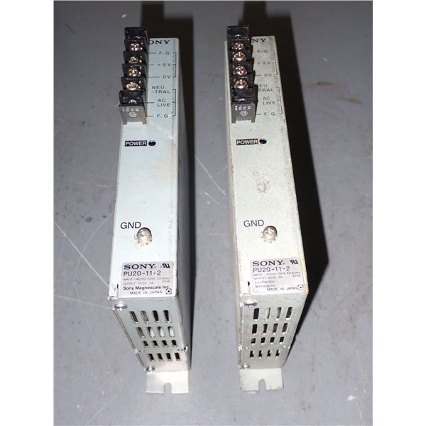Lot of (2) Sony #PU20-11-2 Power Supplies