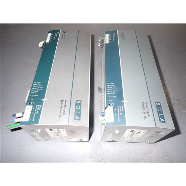 Lot of (2) Sola #SDN 40-24-480 Power Supplies
