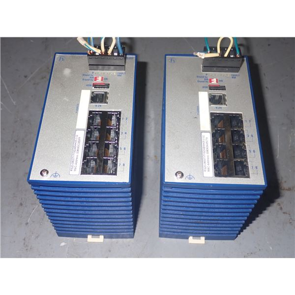 Lot of (2) Hirschmann  #RS20-0800T1T1SDAEHH05.0.02 Rail Switches