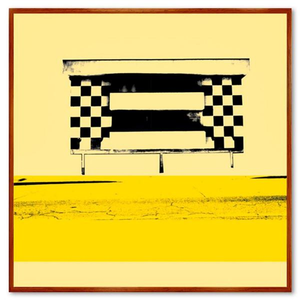 Claudio Santini,  Dingbat 7  Framed Hand Signed Limited Edition on Canvas with Letter of Authenticit