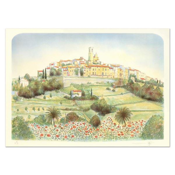 """Rolf Rafflewski, """"St. Paul De Vence """" Limited Edition Lithograph, Numbered and Hand Signed."""