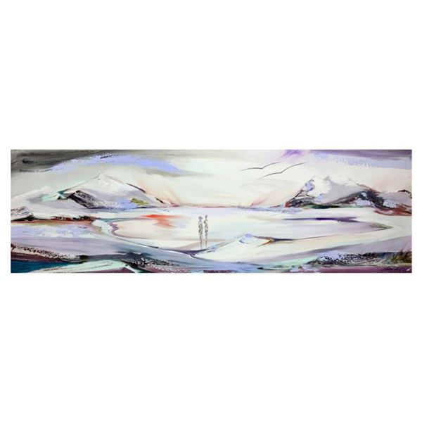 """Alfred Gockel, """"Seaview"""" Hand Signed Limited Edition on Canvas with Letter of Authenticity."""