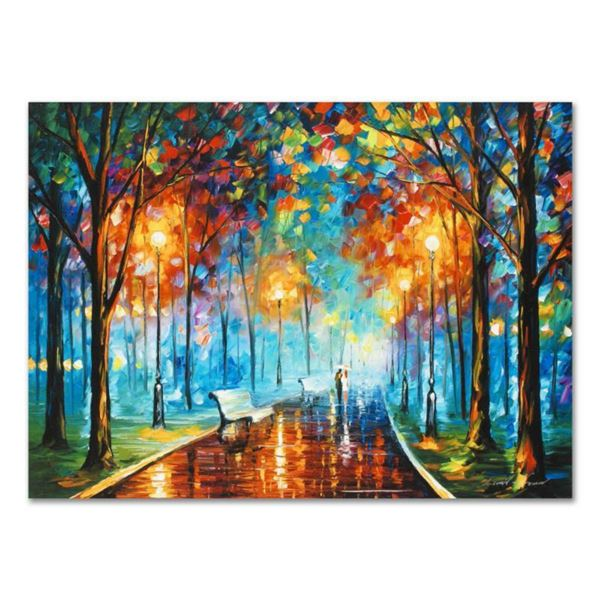 Leonid Afremov (1955-2019)  Misty Mood  Limited Edition Giclee on Canvas, Numbered and Signed. This