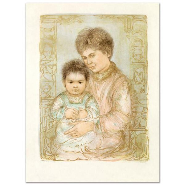 Ulla and Eric  Limited Edition Lithograph by Edna Hibel (1917-2014), Numbered and Hand Signed with