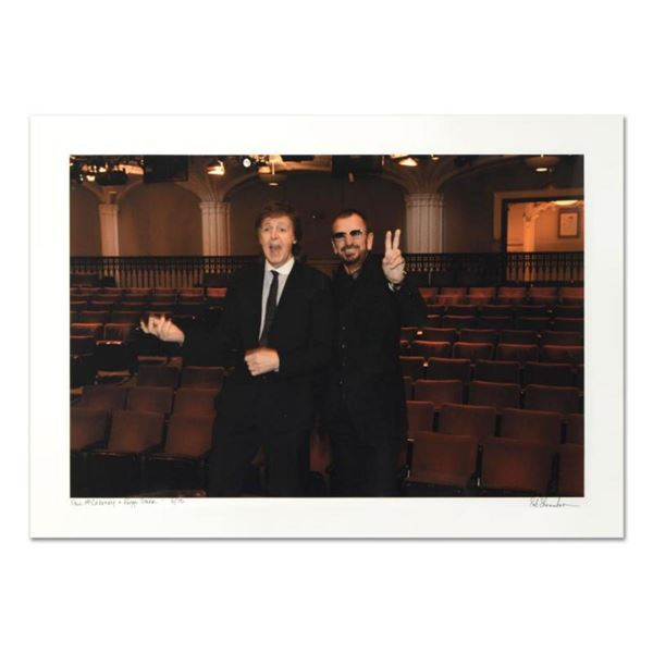 """Rob Shanahan, """"Paul McCartney & Ringo Starr"""" Hand Signed Limited Edition Giclee with Certificate of"""