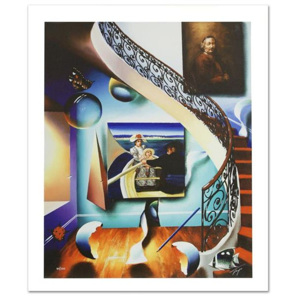 """""""Stairway to the Masters II"""" Limited Edition Giclee on Canvas by Ferjo, Numbered and Hand Signed by"""