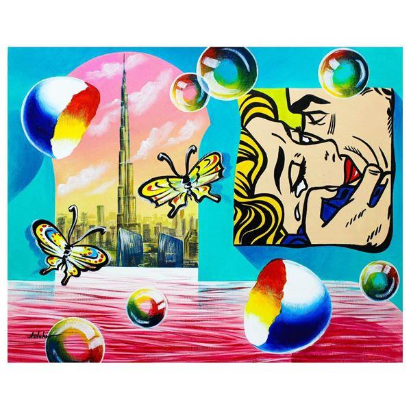 "Alexander Astahov- Original Oil on Canvas ""Burj Khalifa View"""