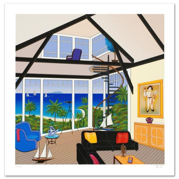 Duplex Over Stinson  Limited Edition Serigraph by Fanch Ledan, Numbered and Hand Signed with Certif