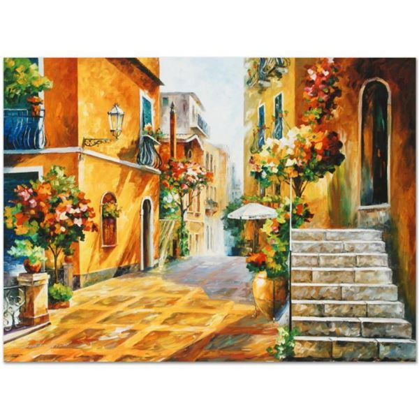 """Leonid Afremov (1955-2019) """"The Sun of Sicily"""" Limited Edition Giclee on Canvas, Numbered and Signed"""