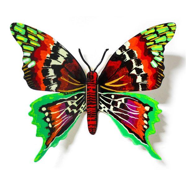 "Patricia Govezensky- Original Painting on Cutout Steel ""Butterfly CXLVIII"""