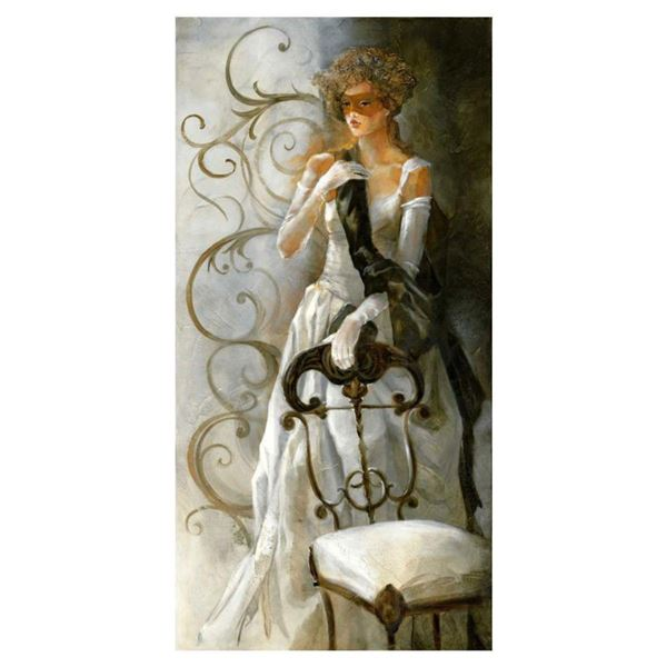 "Lena Sotskova, ""Debutant"" Hand Signed, Artist Embellished Limited Edition Giclee on Canvas with COA."