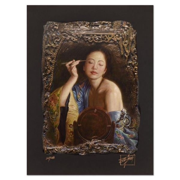 """George Tsui, """"Painting Eyebrow"""" Limited Edition Chiarograph, Numbered and Hand Signed with Letter of"""