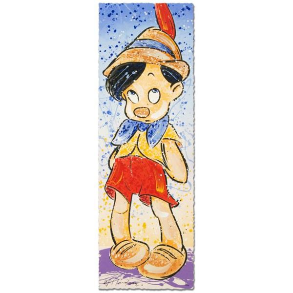 """""""Pinocchio"""" Disney Limited Edition Serigraph (12"""" x 36"""") by David Willardson, Numbered and Hand Sign"""