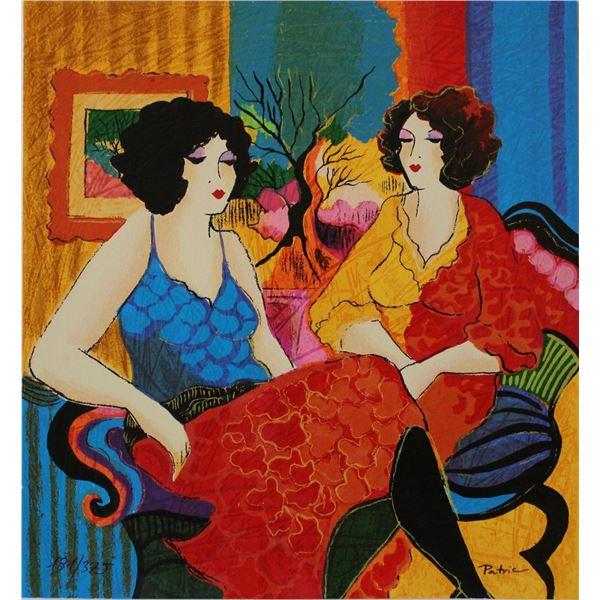 "Patricia Govezensky- Original Serigraph on Paper ""Models Talking"""