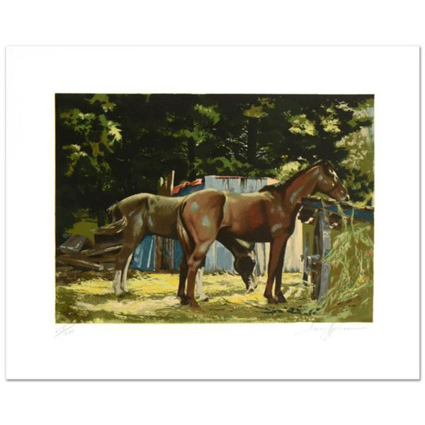 """""""Feeding Time"""" Limited Edition Serigraph by Harry Schaare (1922-2008), Numbered and Hand Signed by t"""