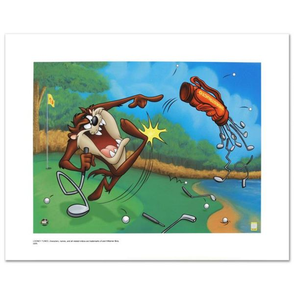 """""""Terrible Taz Golf"""" Limited Edition Giclee from Warner Bros., Numbered with Hologram Seal and Certif"""