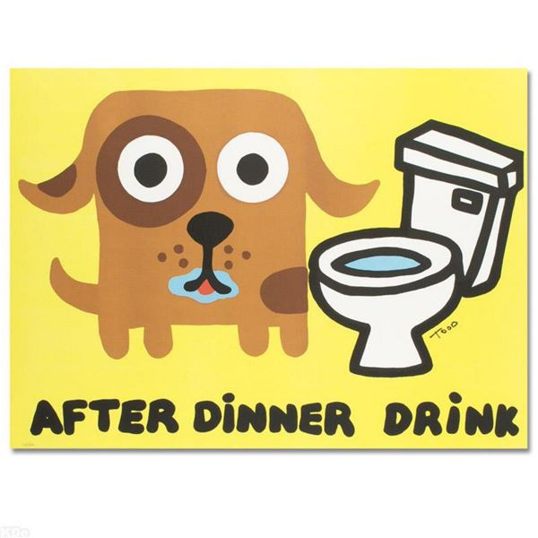 """""""After Dinner Drink"""" Limited Edition Lithograph by Todd Goldman, Numbered and Hand Signed with Certi"""