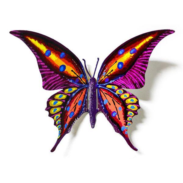 "Patricia Govezensky- Original Painting on Cutout Steel ""Butterfly CXLV"""