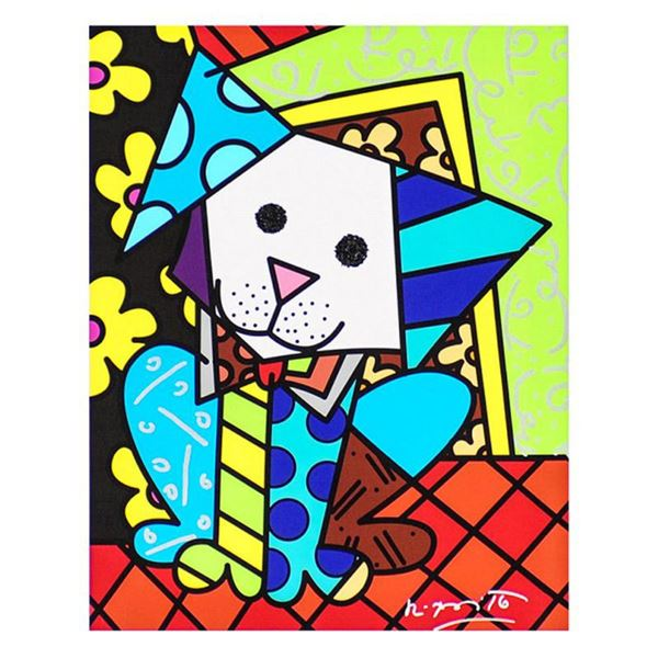 """Britto, """"Coco"""" Hand Signed Limited Edition Giclee on Canvas; Authenticated."""
